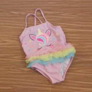 Wonder Nation Unicorn rainbow tutu swimsuit 18M